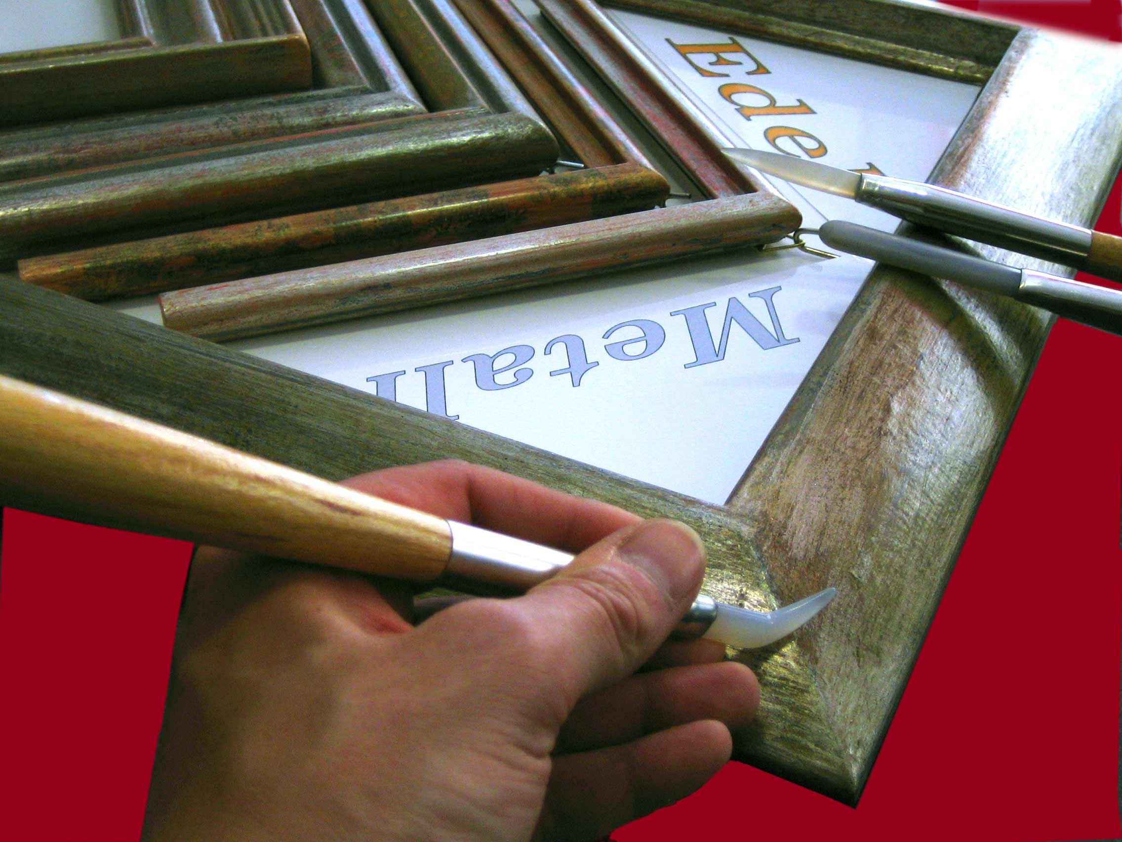 Rahmendesign - Edelmetallrahmen mit Achatstein