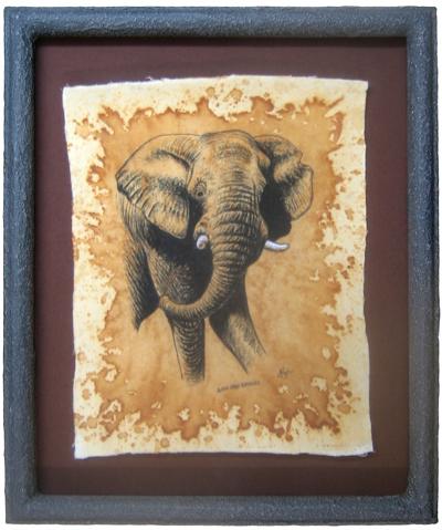 Afrika - Steinpatinarahmen