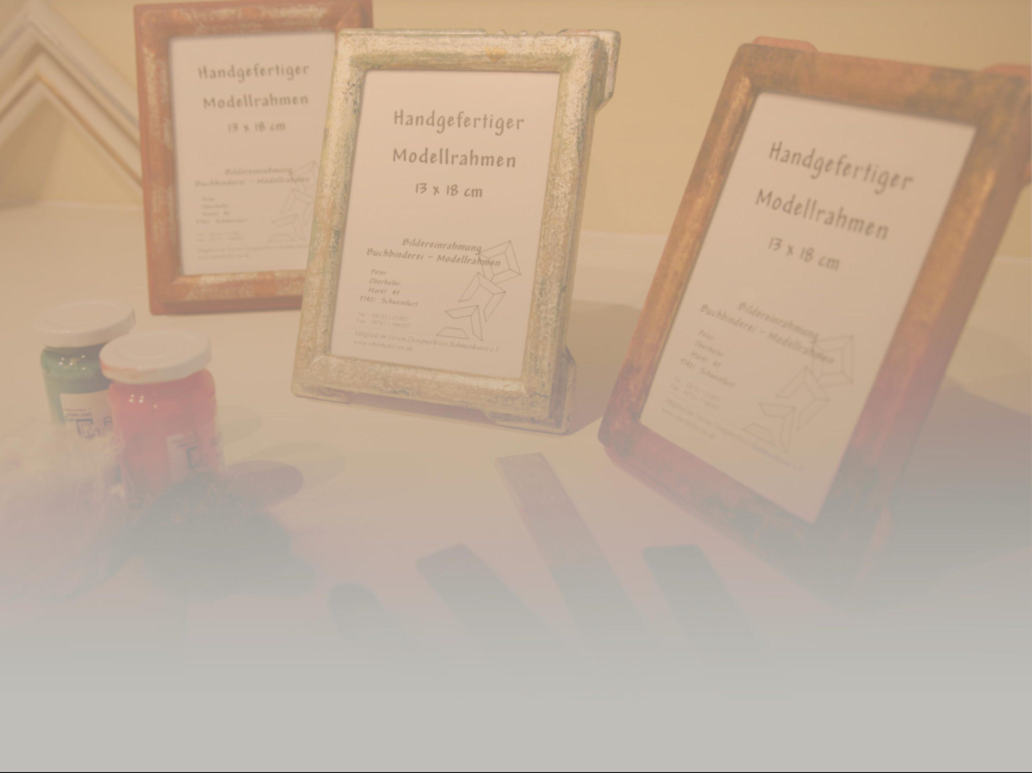 Bilderrahmen - Fotorahmen handvergoldet