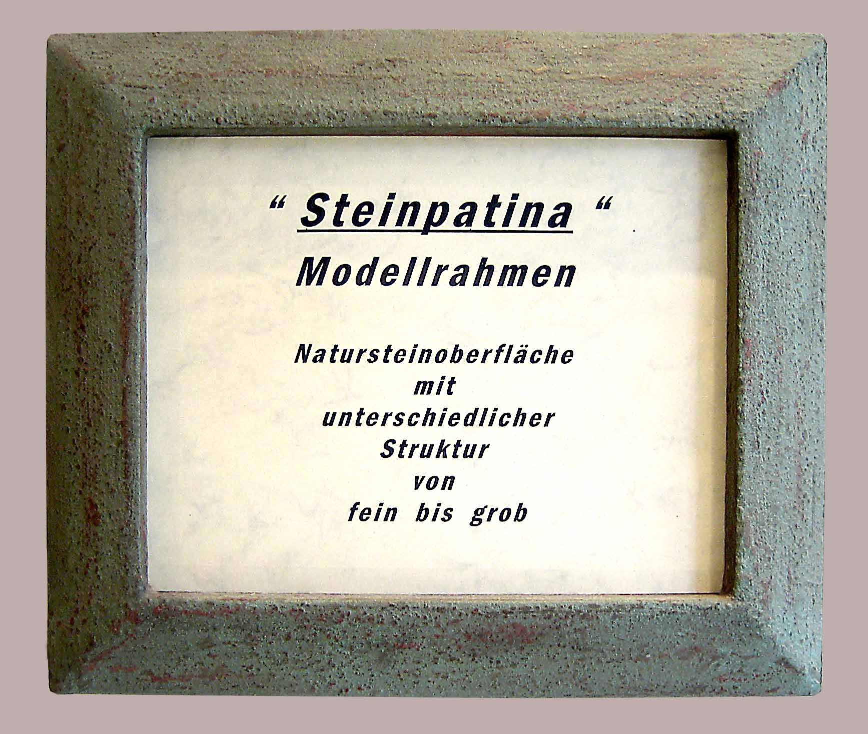 Steinrahmen - Musterrahmen