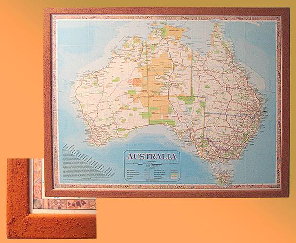 Australien - Rahmen aus australischen Sandstein