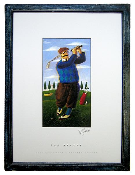 Golfplakat mit Beschriftung