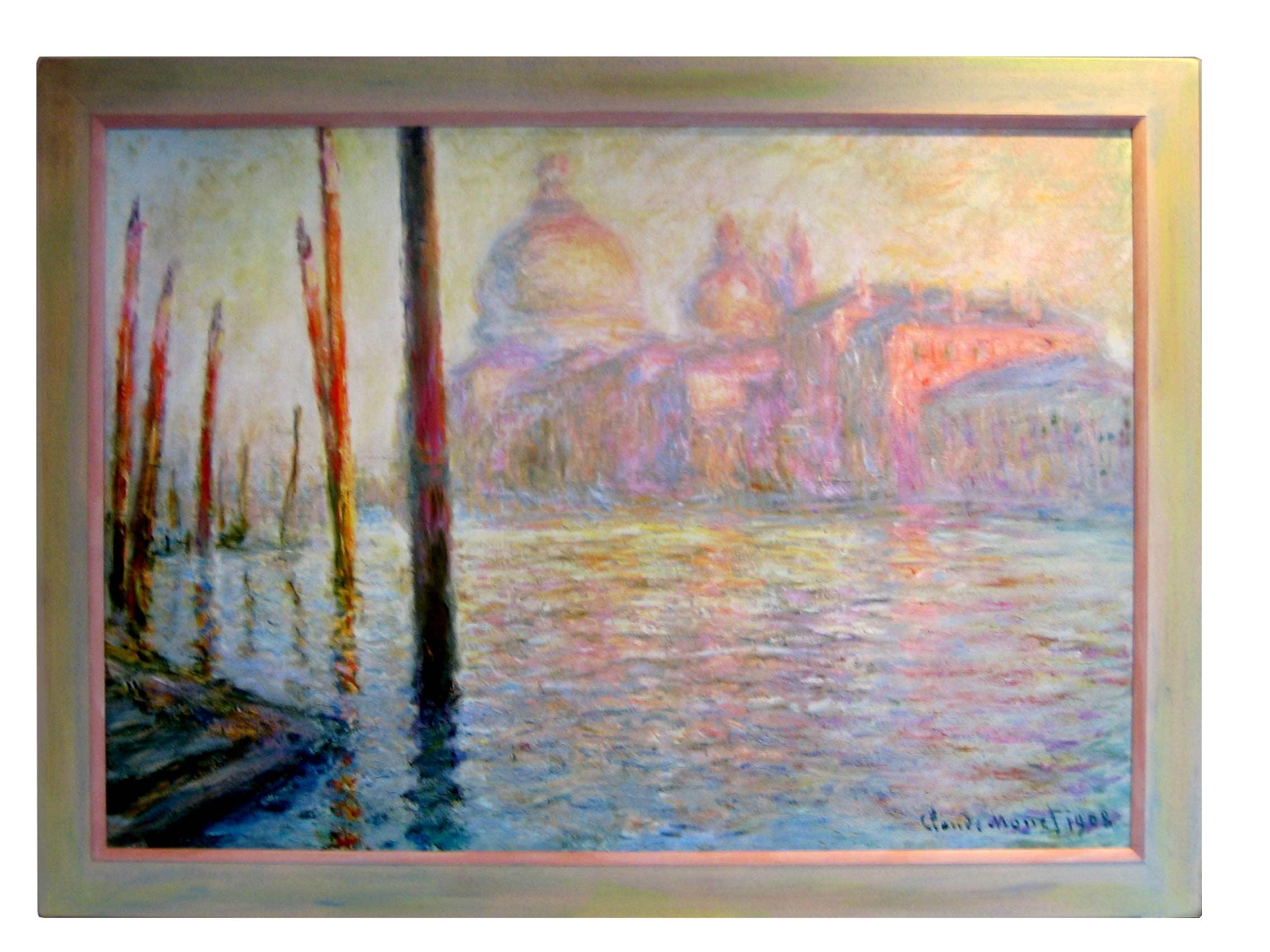 Gerahmte Klassiker - C. Monet - Views of Venice