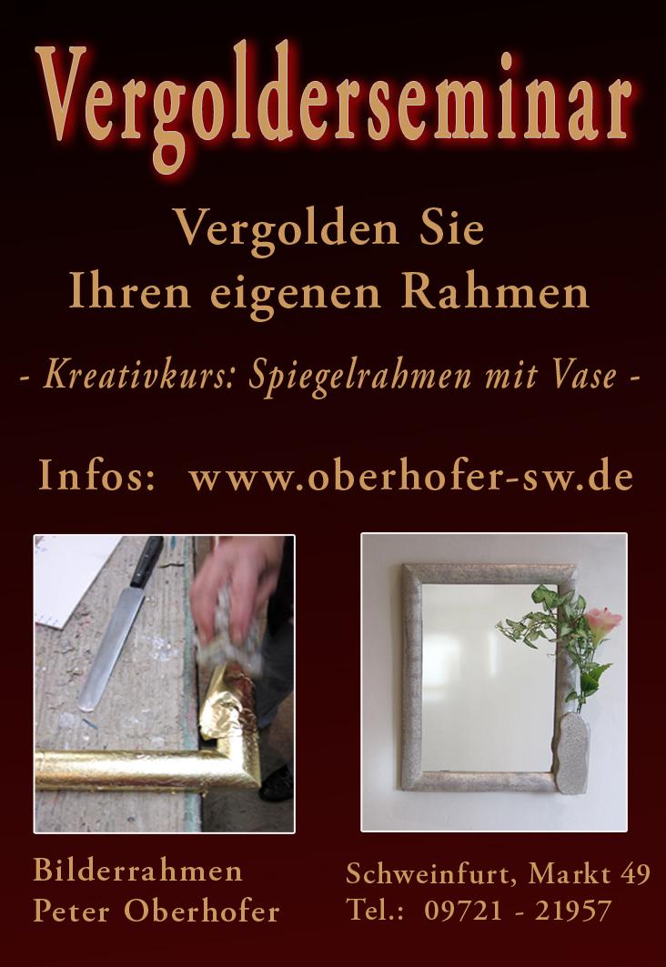 Plakat - Vergolderkurs