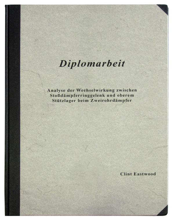 Bachelorarbeit - 1/2-Leineneinband mit Titelbeschriftung