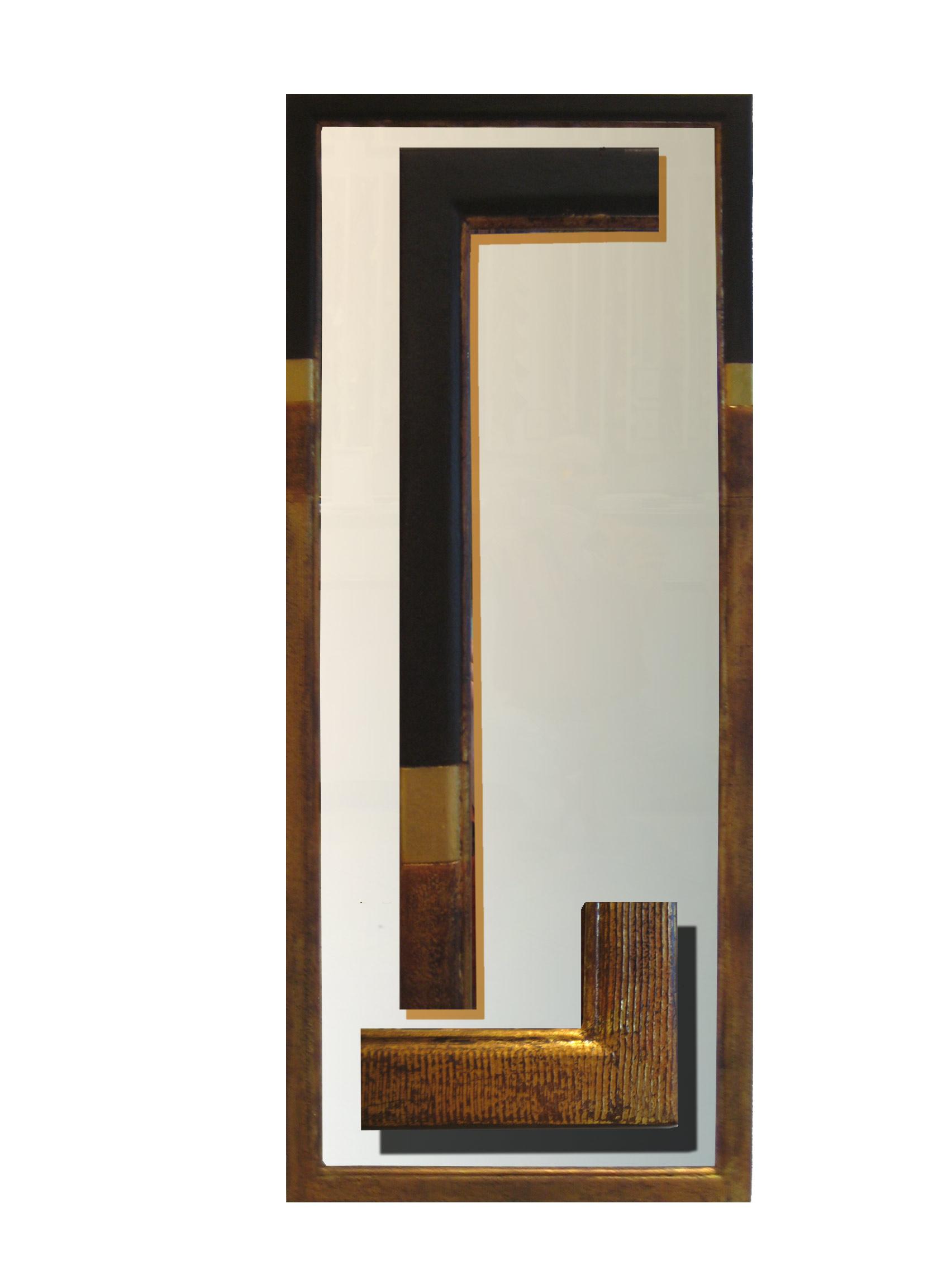 Spiegel 13 Ausführung Wave - 40 x 120 cm