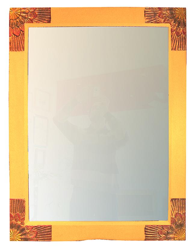 Spiegelrahmen gelb