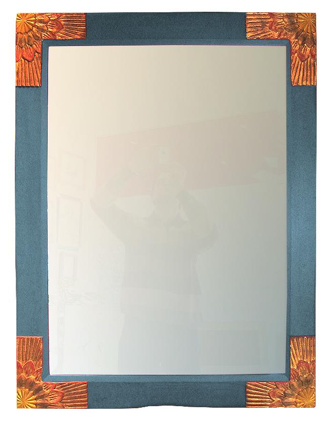 Spiegelrahmen taubenblau