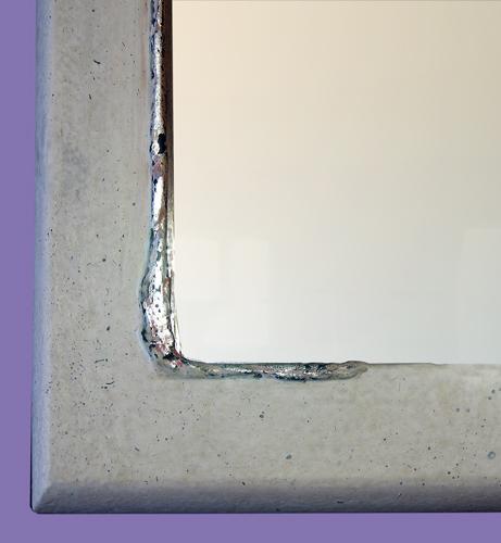 Weißer Spiegelrahmen - Ausschnitt