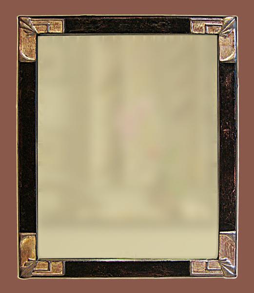 Spiegel 10 mit Eckverzierung - Jugendstil in Edelmetall