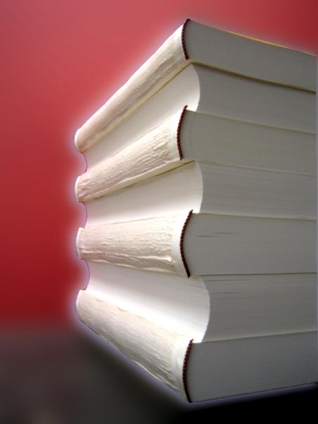 Abgeleimte Buchblocks