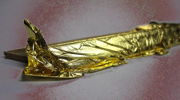 Echtgold - Einlegeleiste vergoldet