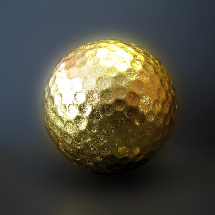 Gold 4 Golf - Golfball - handvergoldet