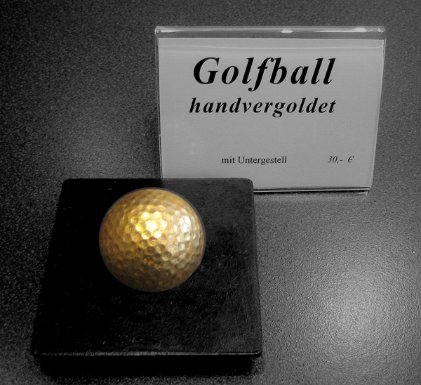 Gold 4 Golf - Golfball - handvergoldet