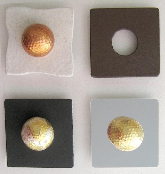 Golfbälle mit Untergestelle