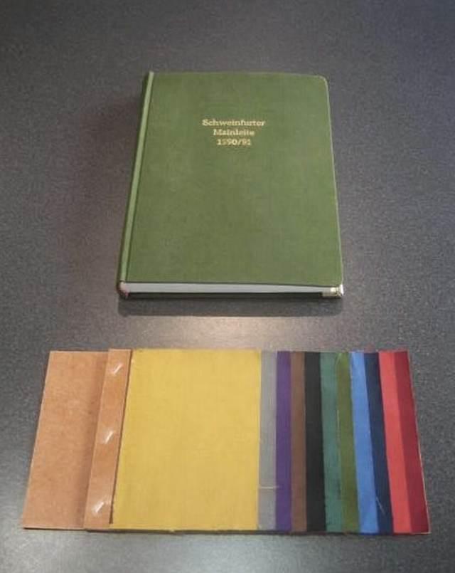 Leineneinband mit Farbmuster
