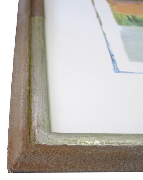 Rahmen in Stein-Edelmetallmix - Ausschnitt