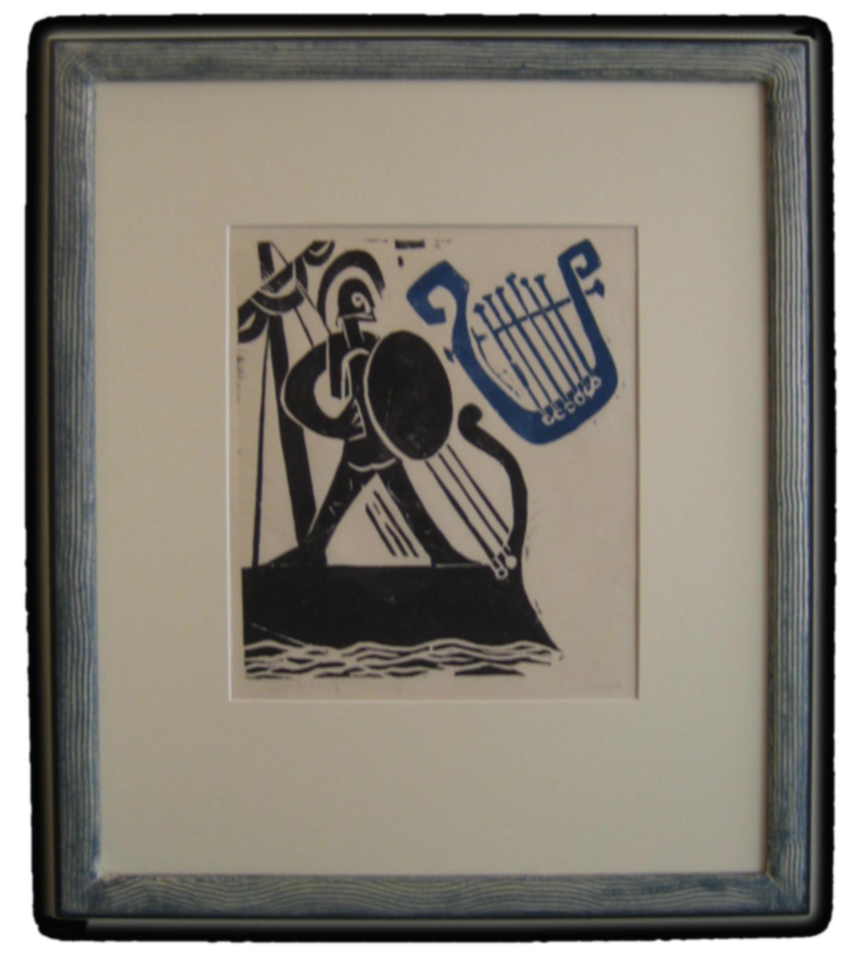 Rahmen - Wave Druckgrafik von G. Kirchner