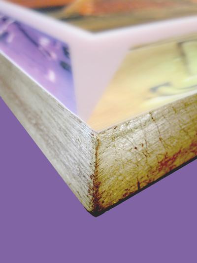 Blockbilder - Kante vergoldet