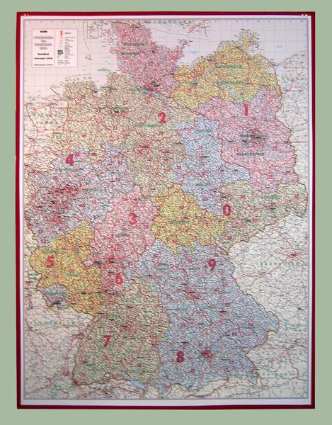 Landkarte auf Dämmplatte