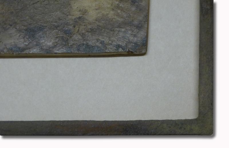 Steinpatinarahmen  mit Fisch - Ausschnitt