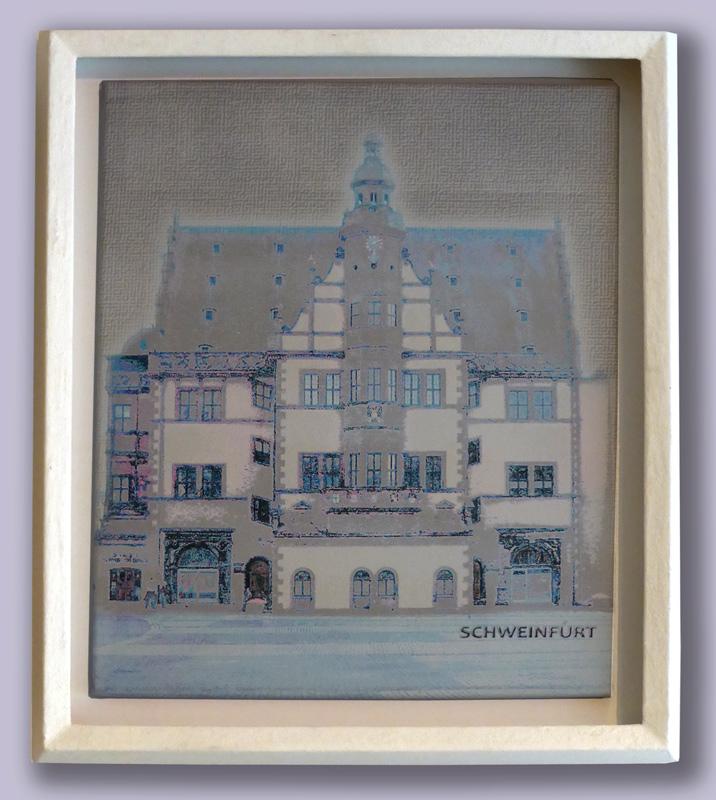 Schattenfuge -  Unique - mit Rathaus Schweinfurt