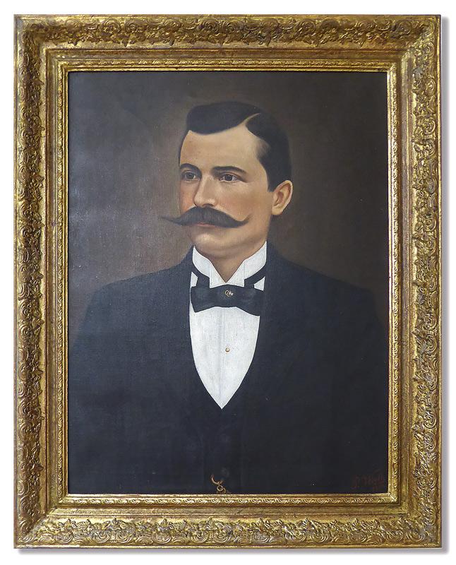 Porträt in Barockrahmen
