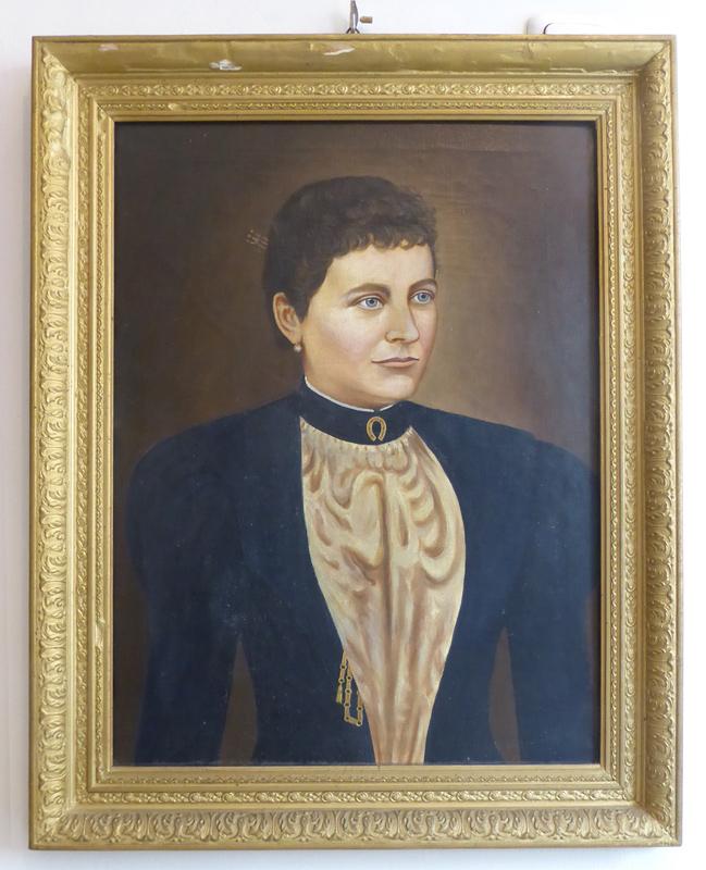 Portrait mit alten Rahmen