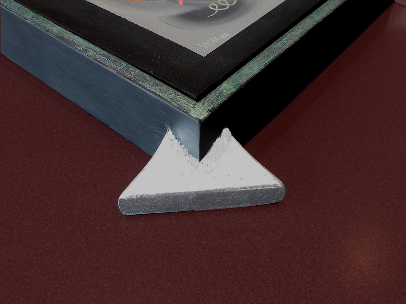 Eckverzierung  Silber deckend