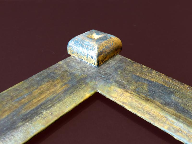 DV-15  -  Steinpatinarahmen mit Eckverzierung