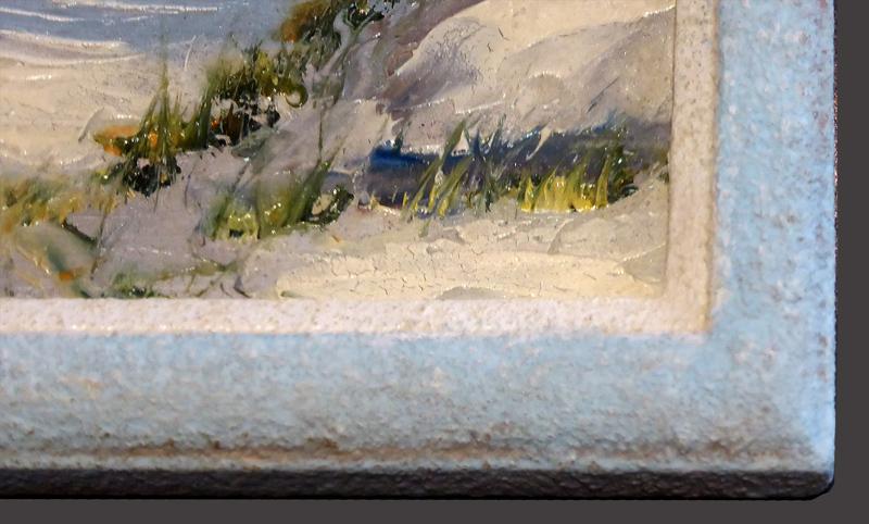 Nachher - Steinpatinarahmen - Ausschnitt