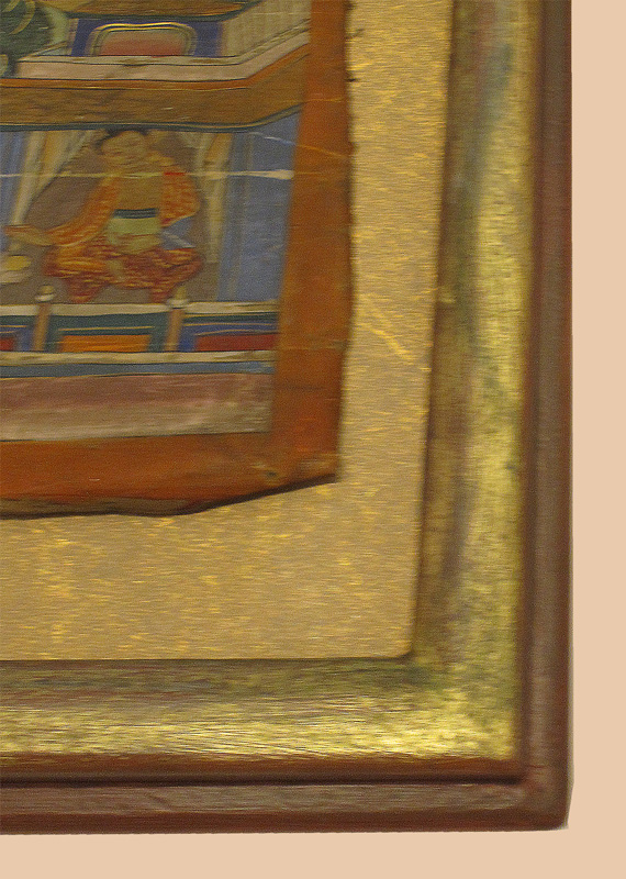 Ausschnitt - Modellrahmen vergoldet