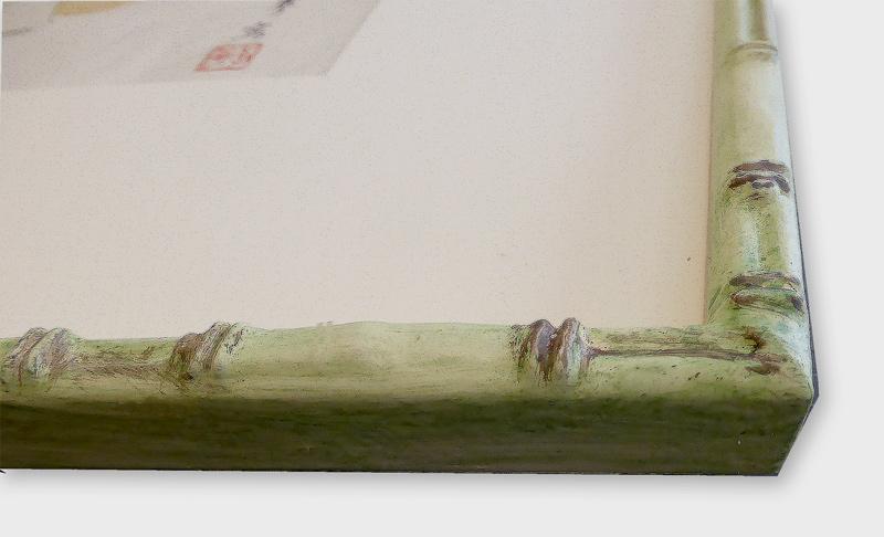 Ausschnitt -  Bambusrahmen