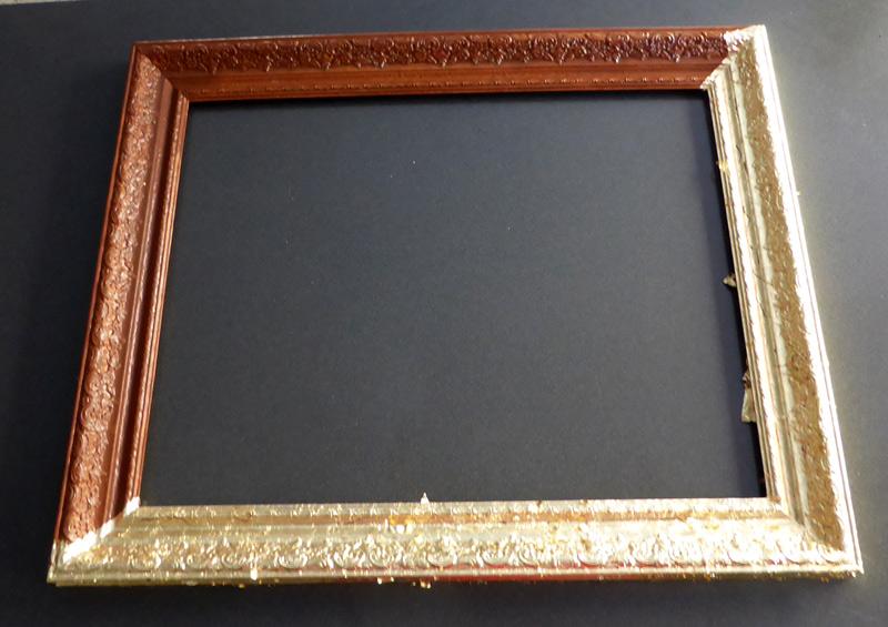 Barockrahmen mit Schlagmetall vergoldet