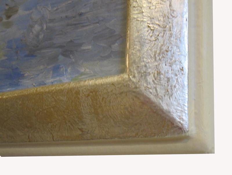 Weißgoldrahmen - Ausschnitt