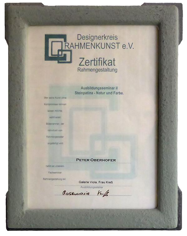 Urkundenrahmen - Designerkreis Rahmenkunst