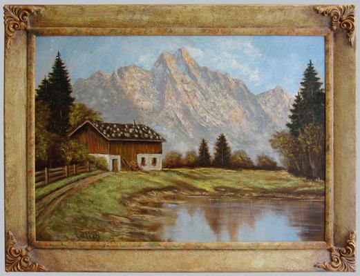 Bayern - Pastellrahmen mit Eckverzierung