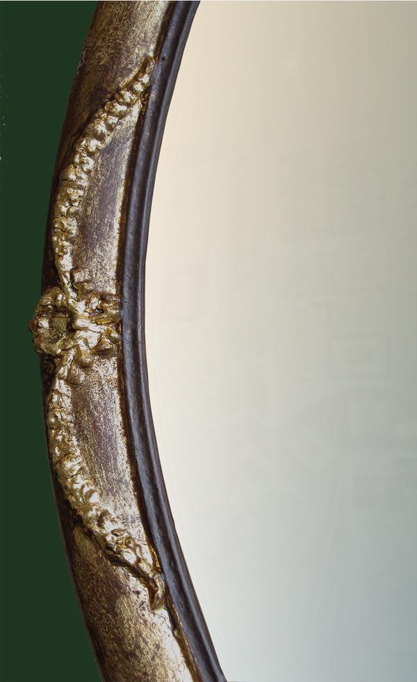 Ovalrahmen vergoldet mit Verzierung - Ausschnitt