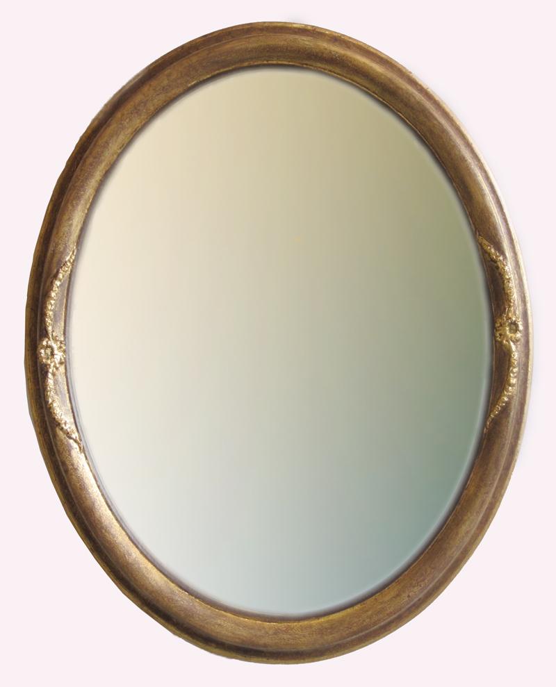 Ovalrahmen vergoldet mit Verzierung