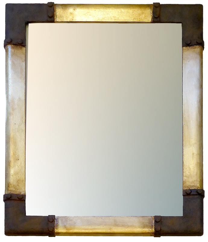 Spiegel mit Steampunk-Rahmen