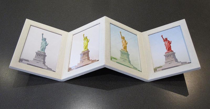 Fotorahmen - Quadrupel - Farbe Weiß