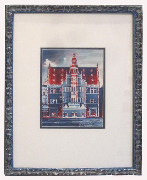 Schweinfurter Rathaus - Pop Art -blau