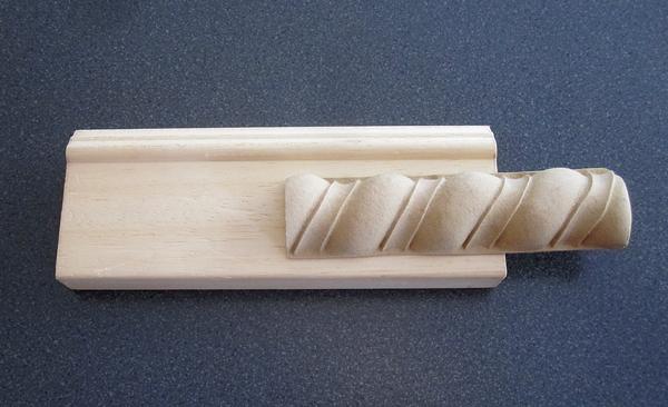 Das Rohprofil mit der Bandverzierung - 3 cm