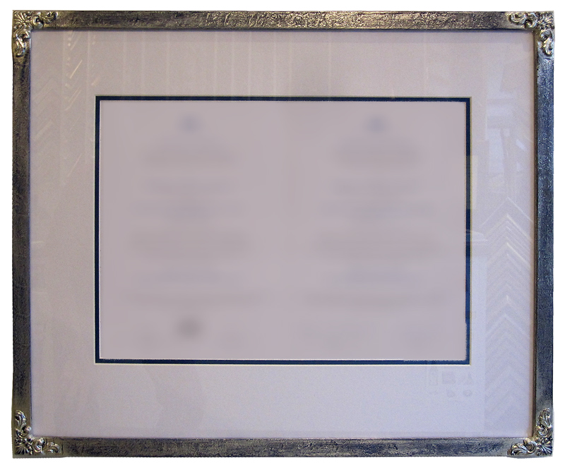 Urkundenrahmen mit Eckverzierung