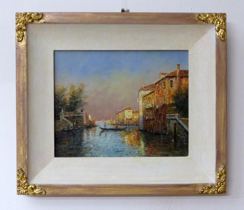 Ölgemälde Venedig - Profil Lugauer mit Verzierung