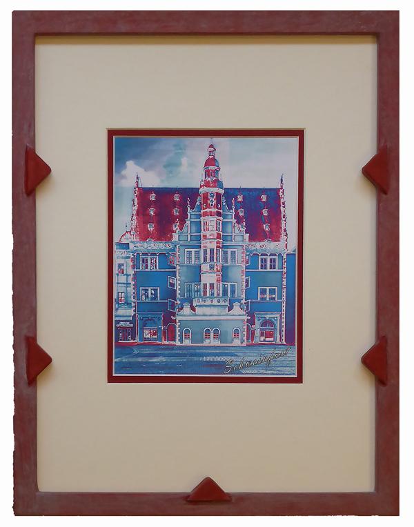 Schweinfurter Rathaus_Pop Art gerahmt