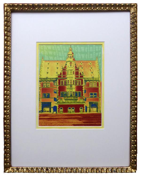 Schweinfurter Rathaus - Pop Art - Gelb