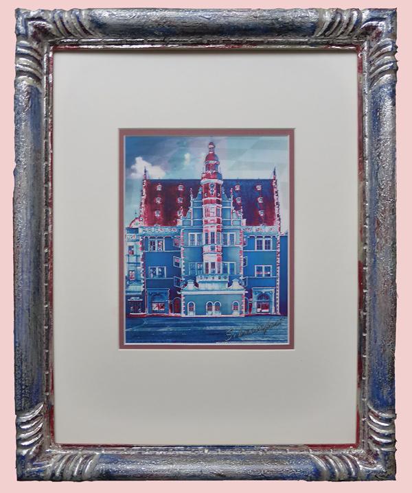Schweinfurter Rathaus - Pop Art - blau