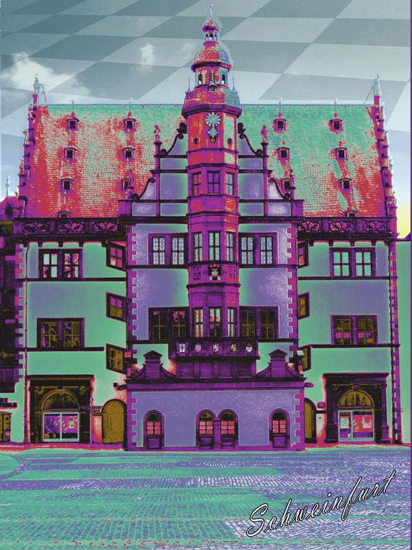 Rathaus_lila_gruen - Pop Art