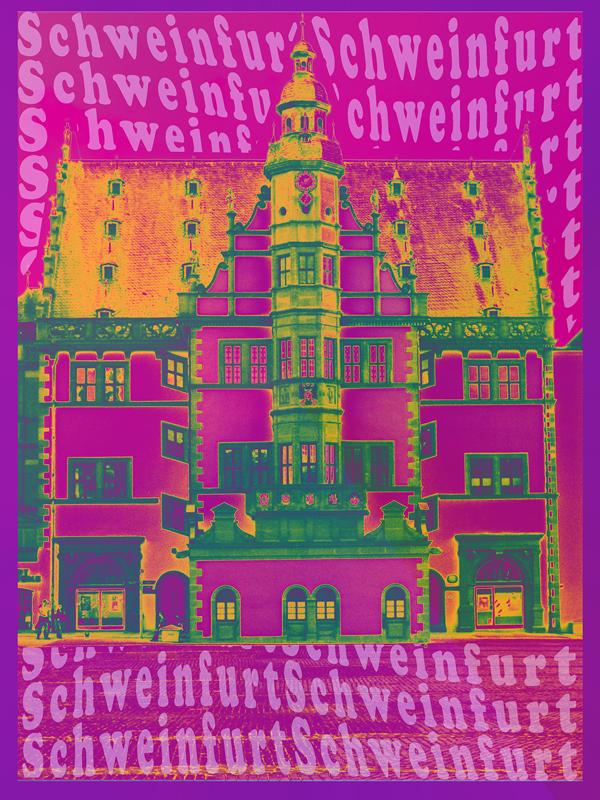 Rathaus_violett - Pop Art